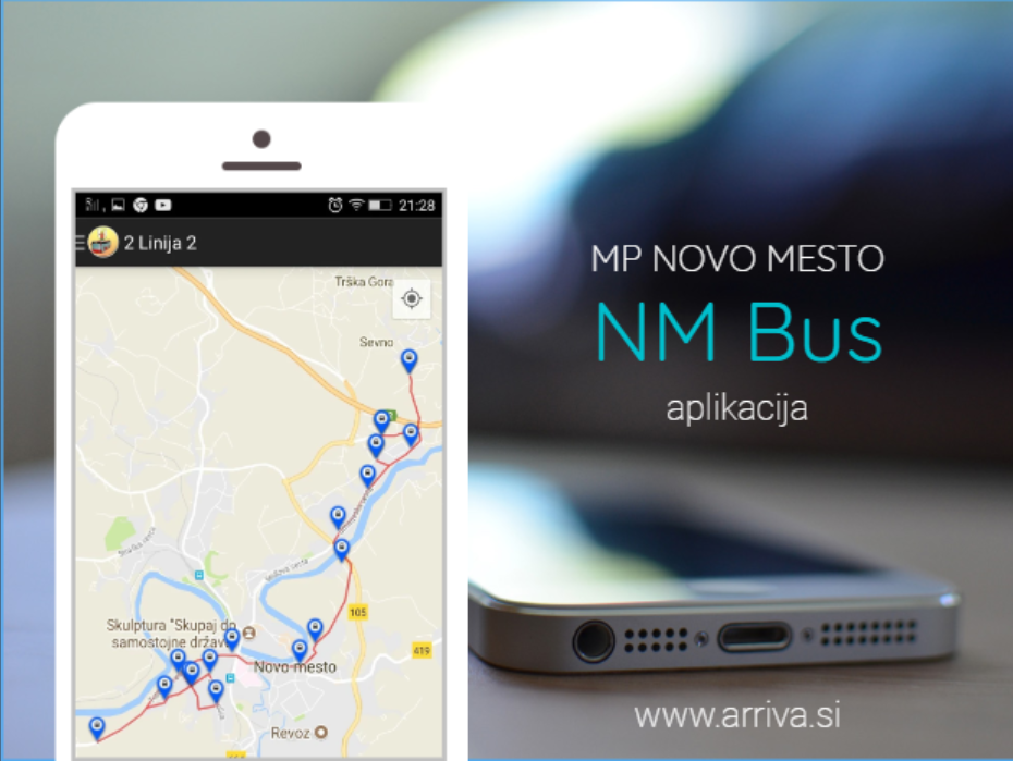Users of public city passenger transport can use th REAL TIME BUS SYSTEM of municipality Novo mesto that enables you real-time data on bus arrival times.