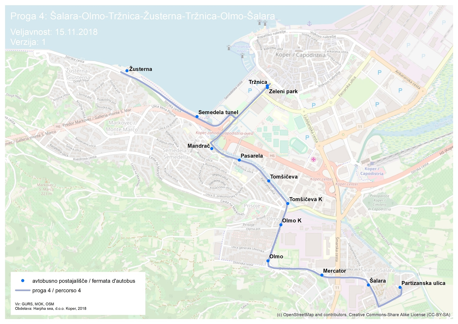 Dear passengers please be informed that on 15 November 2018 a new line will start to operate at City transport Koper.